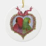 Eclectus by Susie Christian Ceramic Ornament