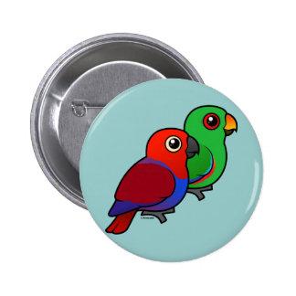 Eclectus Pair Pinback Button