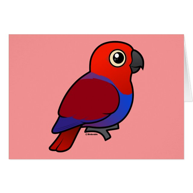 Cute Customizable Female Eclectus Parrot Greeting Card