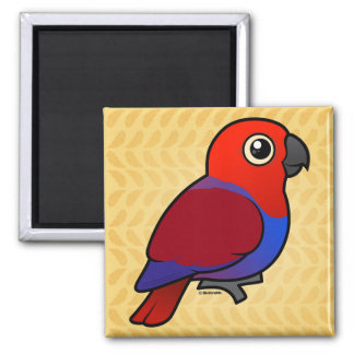 Eclectus Parrot female 2 Inch Square Magnet