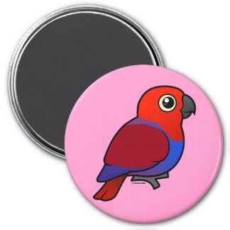 Eclectus Parrot female 3 Inch Round Magnet