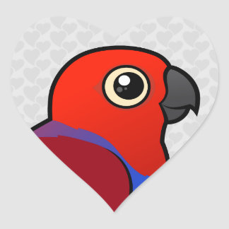 Eclectus Parrot female Heart Sticker