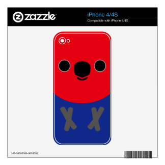 Eclectus Parrot (Female) Skin For The iPhone 4