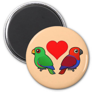 Eclectus Parrot Love 2 Inch Round Magnet