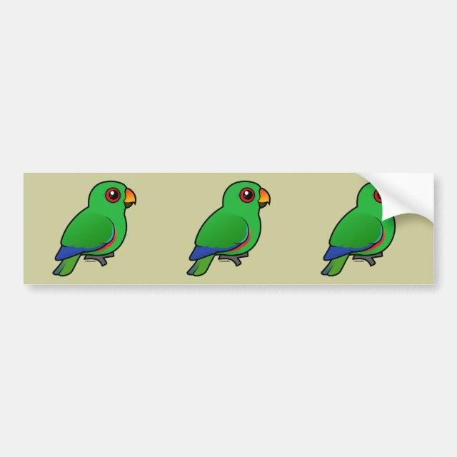 Cute Customizable Male Eclectus Parrot Bumper Sticker