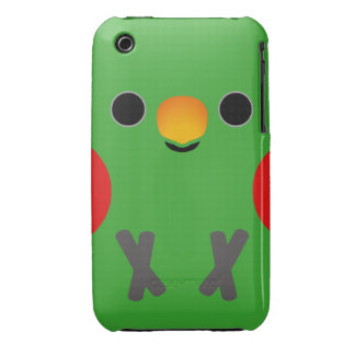 Eclectus Parrot (Male) iPhone 3 Case-Mate Cases