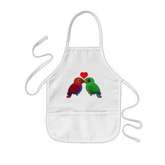 Eclectus Parrots in Love Kids' Apron