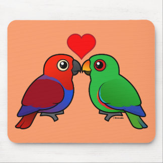 Eclectus Parrots in Love Mouse Pad