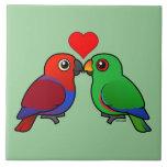 Eclectus Parrots in Love Tiles