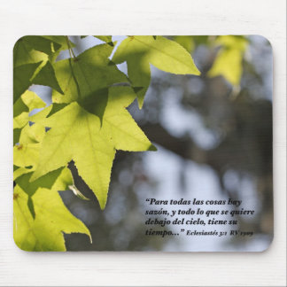 Eclesiastes 3:1 con Hojas Mouse Pad