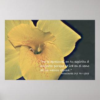 Eclesiastés 7:9 Cartel Poster