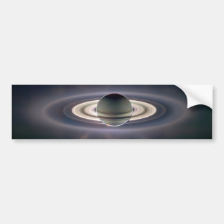 Eclips solares de Saturn Pegatina De Parachoque