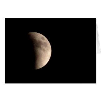 Eclipsar la luna tarjeta de felicitación