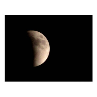 Eclipsar la luna tarjeta postal