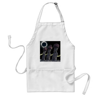 Eclipse 2010 Easter Island Adult Apron