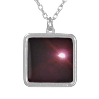 Eclipse 2 silver plated necklace
