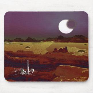 Eclipse Above Distant Lands Alien Planet Mousepad