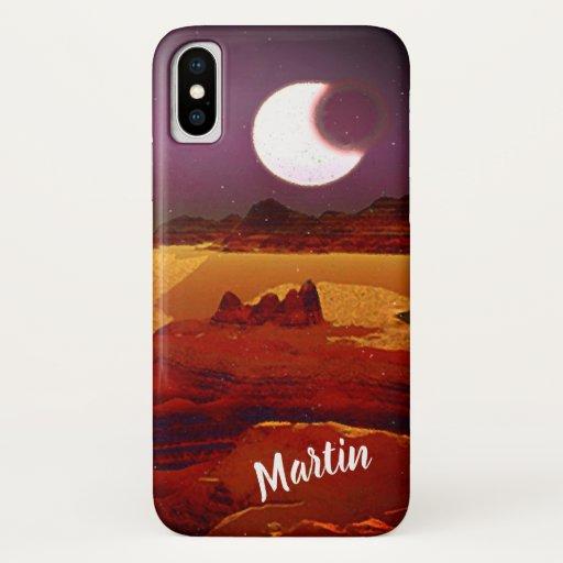 Eclipse Above The Distant Lands. Alien Planet iPhone XS Case