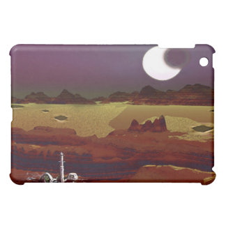 Eclipse Above The Distant Lands. Alien Planet Cover For The iPad Mini