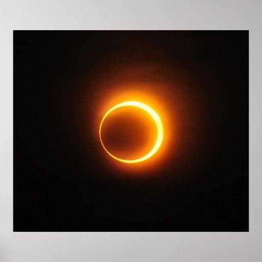 Eclipse anular solar de enero de 2010 en Jinan Chi Posters