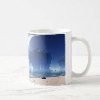 Eclipse at Strange Beach Coffee Mug