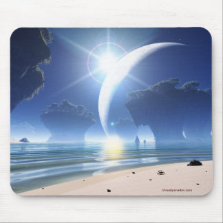 Eclipse at Strange Beach Mouse Pad