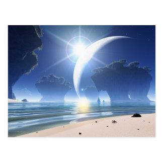 Eclipse at Strange Beach Postcard
