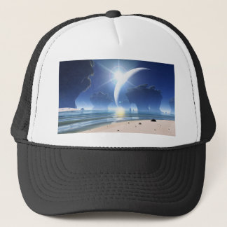 Eclipse at Strange Beach Trucker Hat