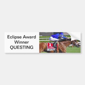 "ECLIPSE AWARD WINNER ""QUESTING"" CAR BUMPER STICKER"