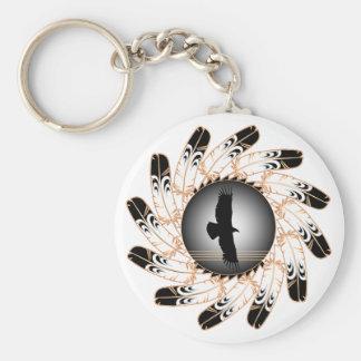 Eclipse Basic Round Button Keychain