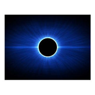 Eclipse de la estrella azul tarjetas postales
