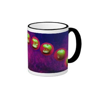 Eclipse de la estrella verde taza a dos colores