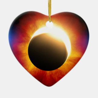 Eclipse Adorno De Cerámica En Forma De Corazón