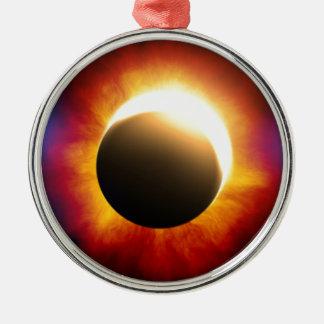 Eclipse Adorno Redondo Plateado