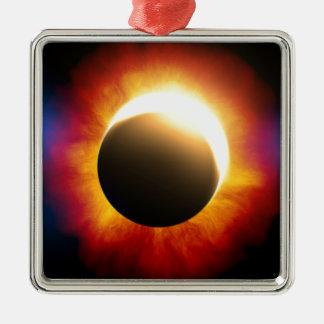 Eclipse Adorno Cuadrado Plateado