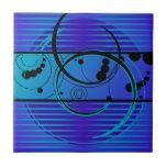 Eclipse del azul de Abstact Azulejo Cerámica