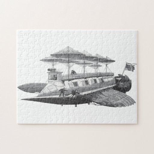 Eclipse del dirigible de Steampunk de la ciencia Rompecabezas Con Fotos
