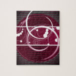 Eclipse del rojo de Abstact Rompecabeza Con Fotos