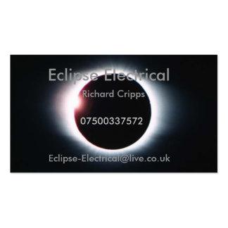 Eclipse eléctrico tarjetas de visita