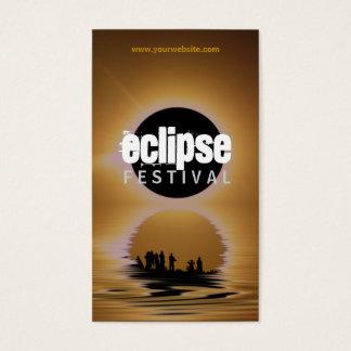 Eclipse Festival Silhouette Profile Card