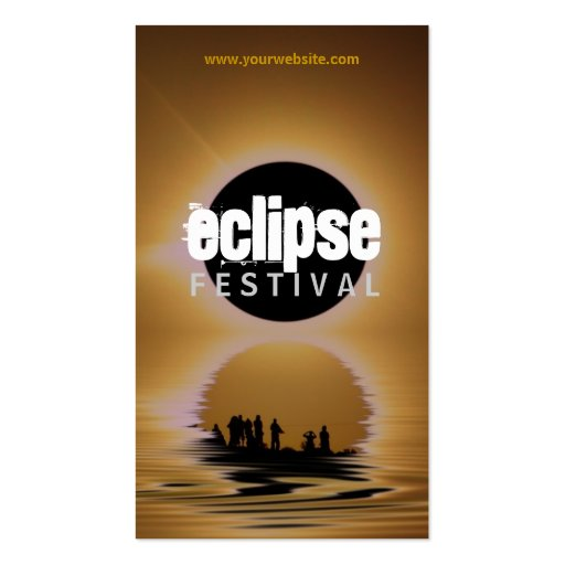 Eclipse Festival Silhouette Profile Card Double-Sided Standard Business Cards (Pack Of 100)