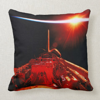 Eclipse from Space Throw Pillows