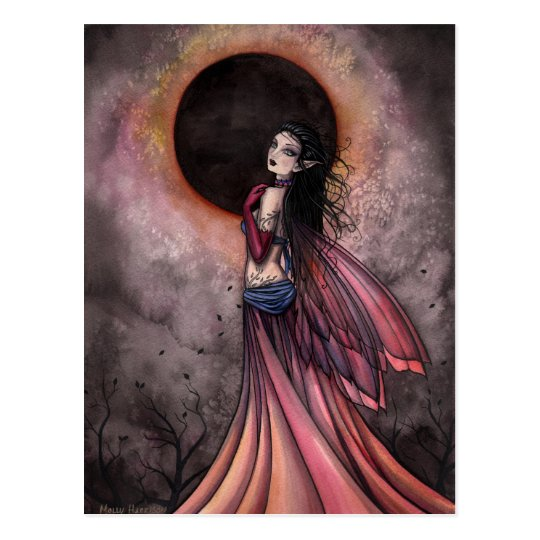 Eclipse Gothic Fairy Postcard