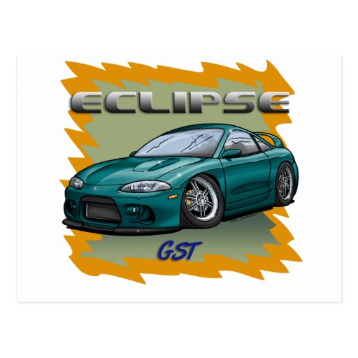 Eclipse_Green Postcard