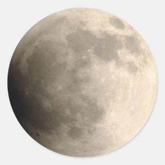 Eclipse lunar (3) 15 de abril de 2014 total 12am pegatina redonda