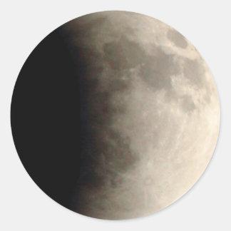 Eclipse lunar (6) 12:21 15 de abril de 2014 total pegatina redonda