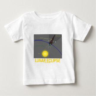Eclipse lunar (actitud de la astronomía) playera de bebé