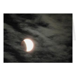 Eclipse lunar de Supermoon Tarjeta De Felicitación