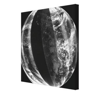 Eclipse lunar impresión en lona