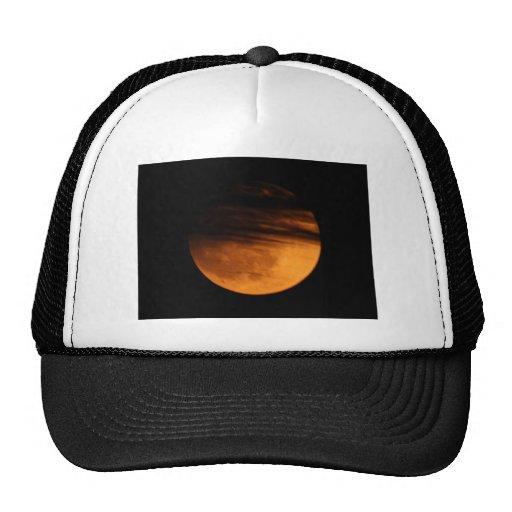 Eclipse lunar parcial gorros bordados